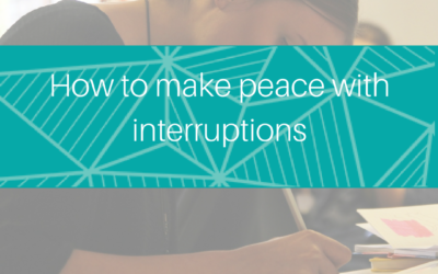 7 ways to deal with interruptions