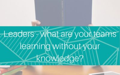 Leaders – what are your teams learning without your knowledge?