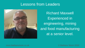 Richard Maxwell Lessons from Leaders - blog post