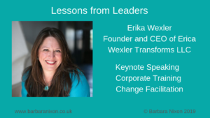 Lessons from Leaders - Erica Wexler