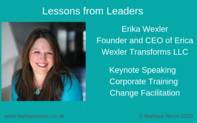 Lessons from Leaders – Erica Wexler