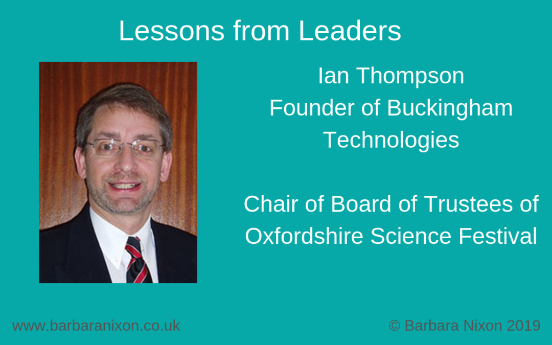 Lessons from Leaders – Ian Thompson