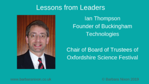 Lessons from Leaders - Ian Thompson