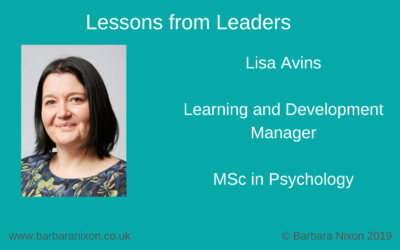 Lessons from Leaders – Lisa Avins