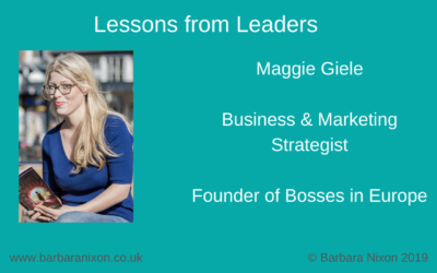 Lessons from Leaders – Maggie Giele
